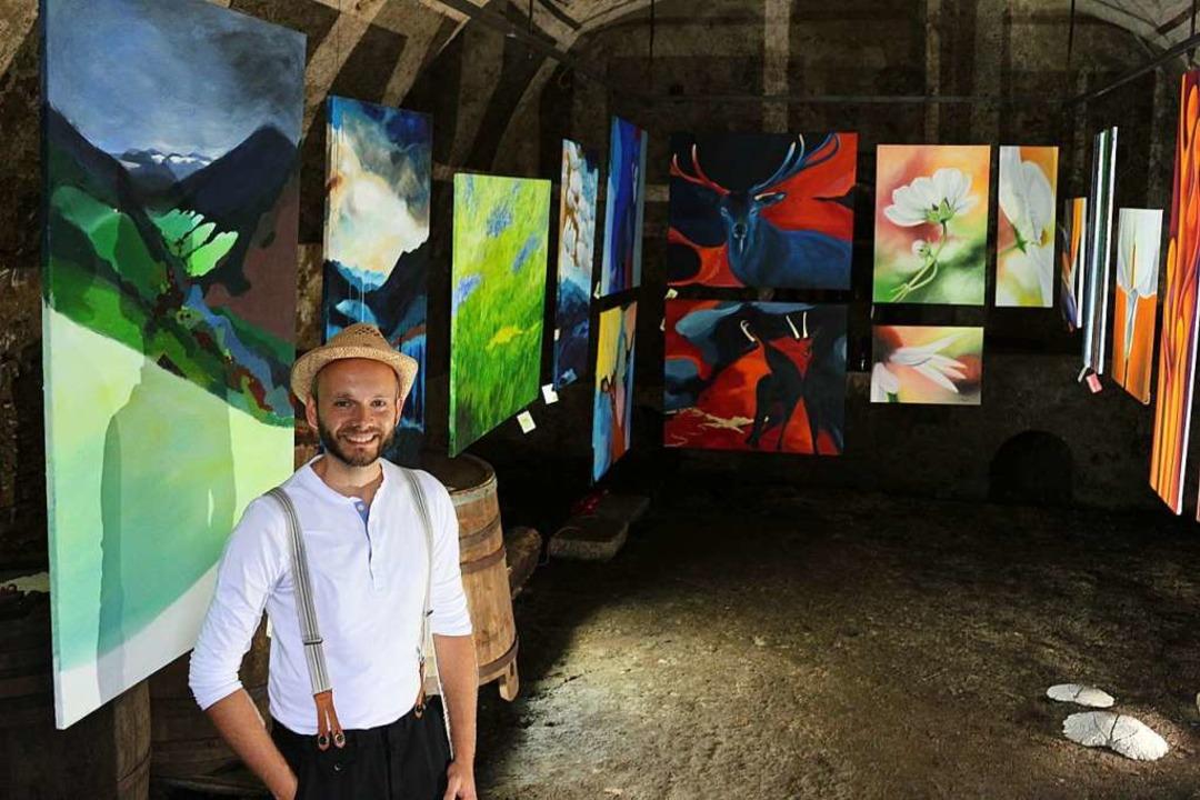 "Thomas Kaltenbachs Wisdishof in Simons...4 Welten"" in ein großes Atelier.  | Foto: Karin Heiß"