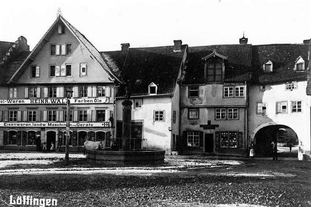 Heute und vor 100 Jahren: Das Löffinger Stadtbild im Vergleich