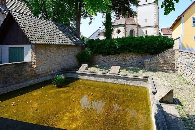 Im Munzinger Wäschbach-Brunnenbecken gab's einst warmes Thermalwasser