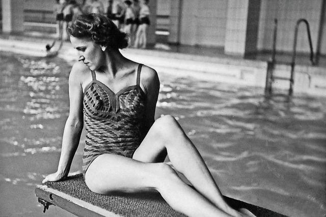 Gestrickte Badeanzüge aus Baselland waren der Renner in den 30er Jahren