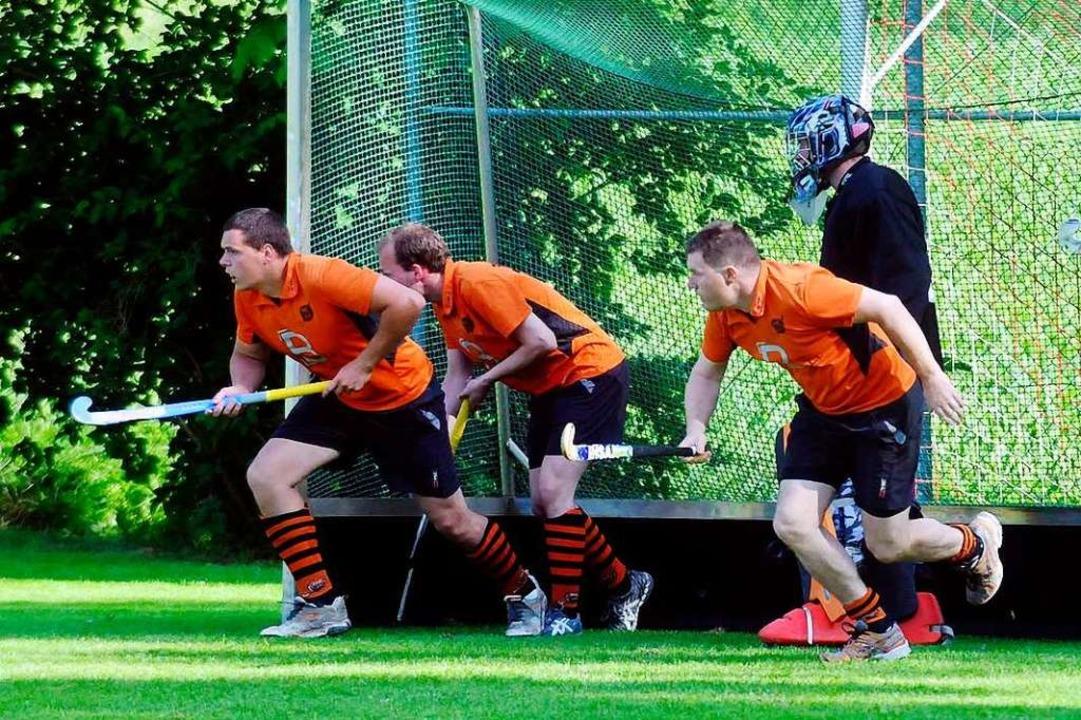 Die Lahrer Hockeyspieler sind startklar für das dreitägige Pfingstturnier.  | Foto: Wolfgang Künstle