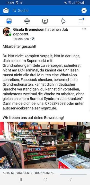 Badische Zeitung Stellenanzeige