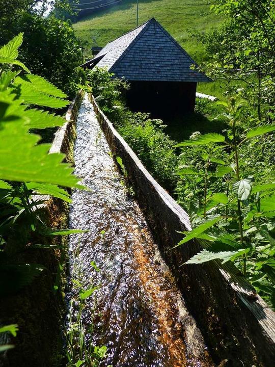 Seit über 200 Jahren steht die Klopfsä...0-er Jahre zum Herstellen von Bauholz.  | Foto: Sattelberger