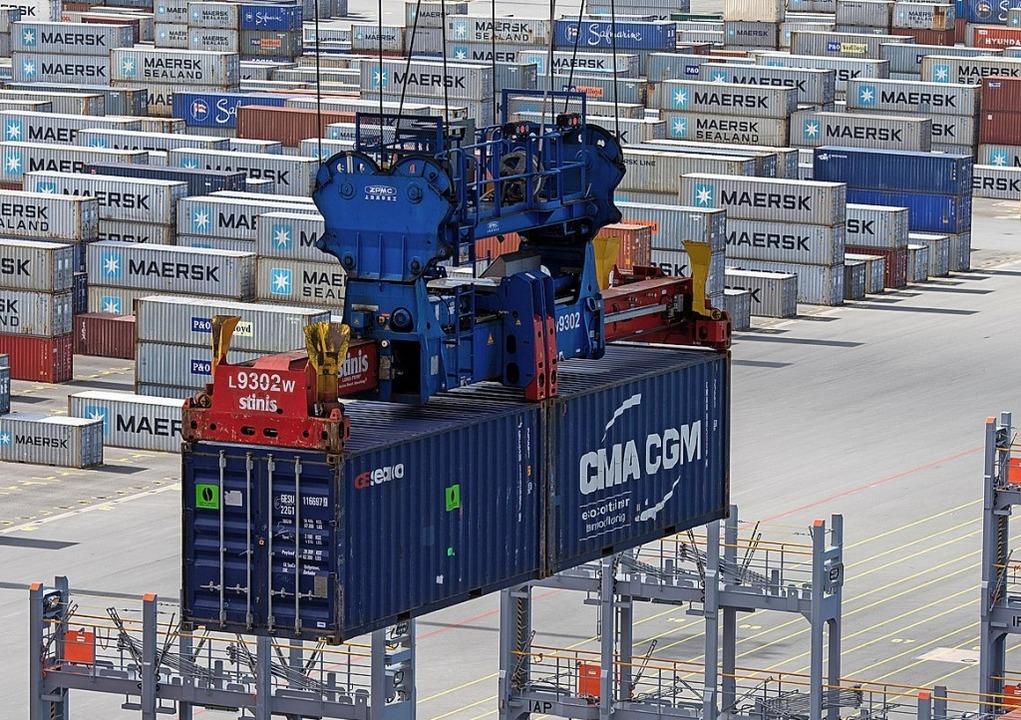 In der exportorientierten Industrie läuft es nicht mehr rund.  | Foto: Ingo Wagner