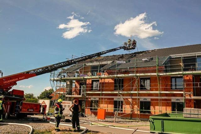 Feuer im Rohbau eines Mehrfamilienhauses in Kappel-Grafenhausen