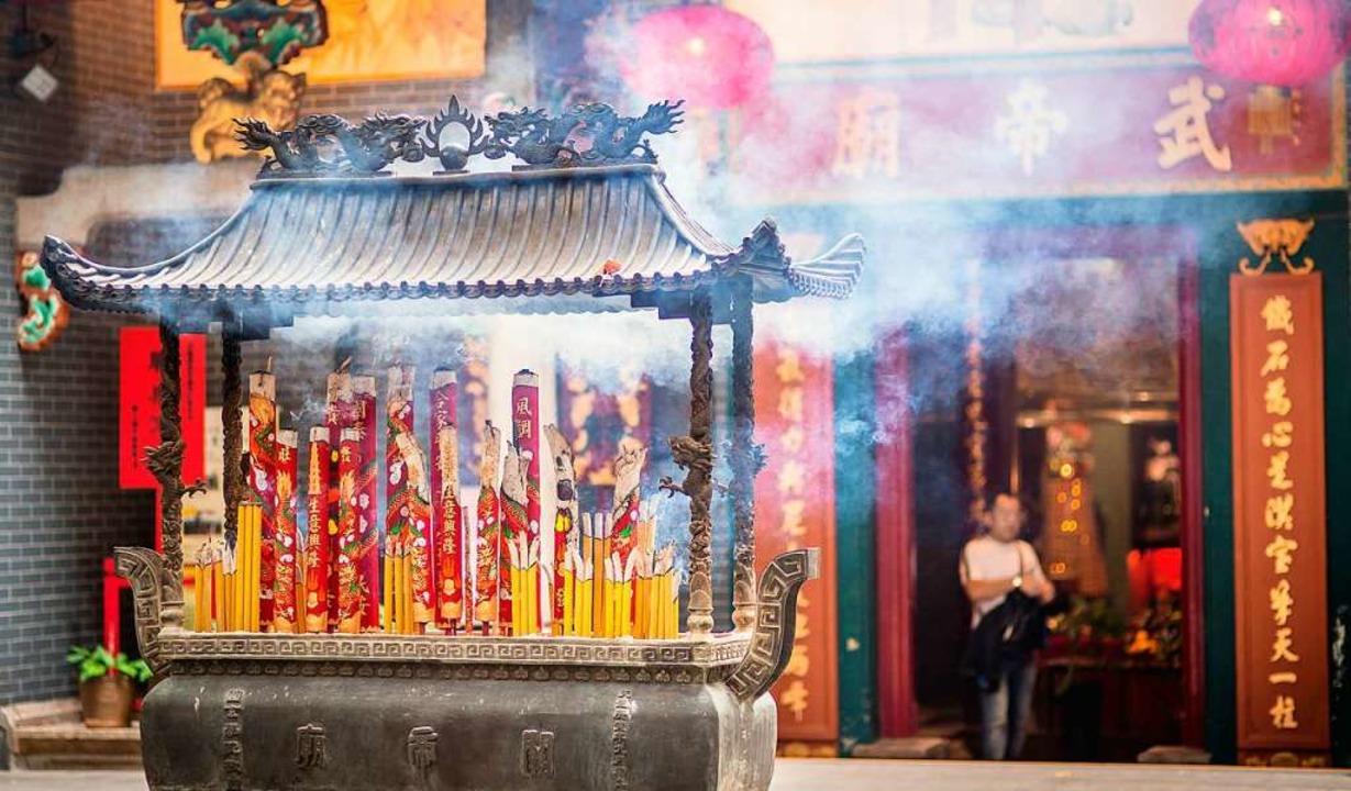 Der Kwan Tai Temple im Hongkonger Stad... Oase mitten im  Trubel der Großstadt.  | Foto: Hong Kong Tourism Board