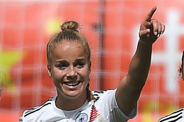 Giulia Gwinn vom SC Freiburg schießt Deutschland zum Sieg