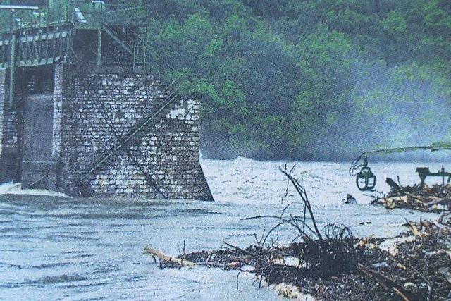 Zu Pfingsten 1999 gab es in Rheinfelden ein Jahrhunderthochwasser