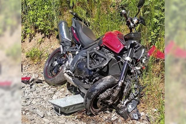 Sturz mit dem Motorrad