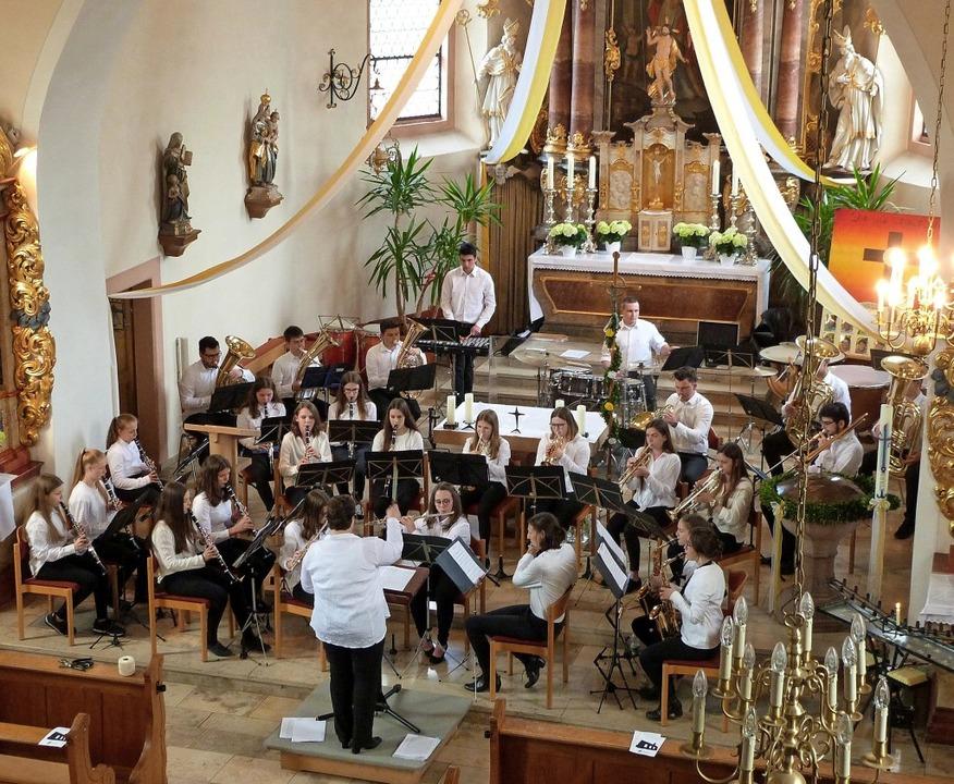 Konzert der Bläserjugend in der Kirche...tus. <BZ-Foto>Berthold Meier</BZ-Foto>