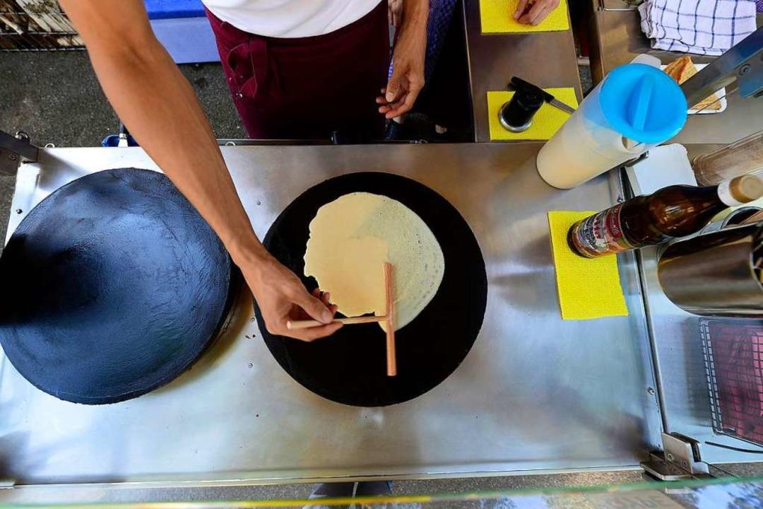 Crêpes statt Steaks: Was sagen die Spieler des TuS Binzen dazu?  | Foto: Ingo Schneider