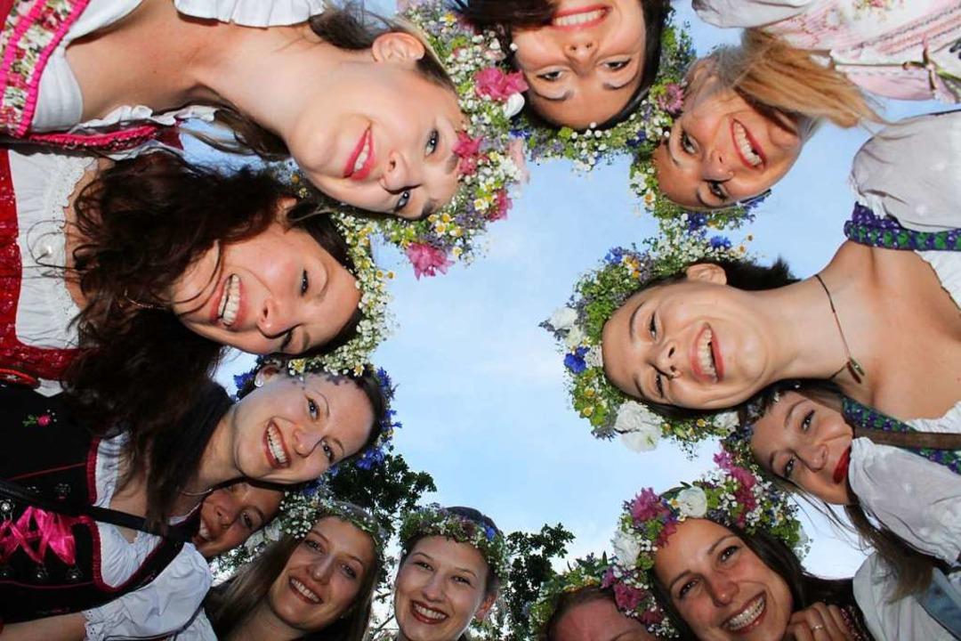 Eine Frauentruppe feierte Junggesellinnen-Abschied.  | Foto: Erich Krieger
