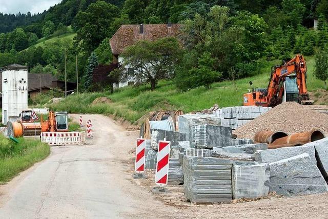 Ausbau der Föhrentalstraße in Glottertal bedeutet für die Anwohner Fußmärsche