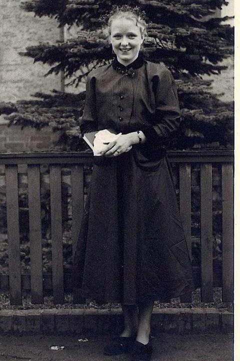Helga Zahn im Frühjahr 1954.  | Foto: privat