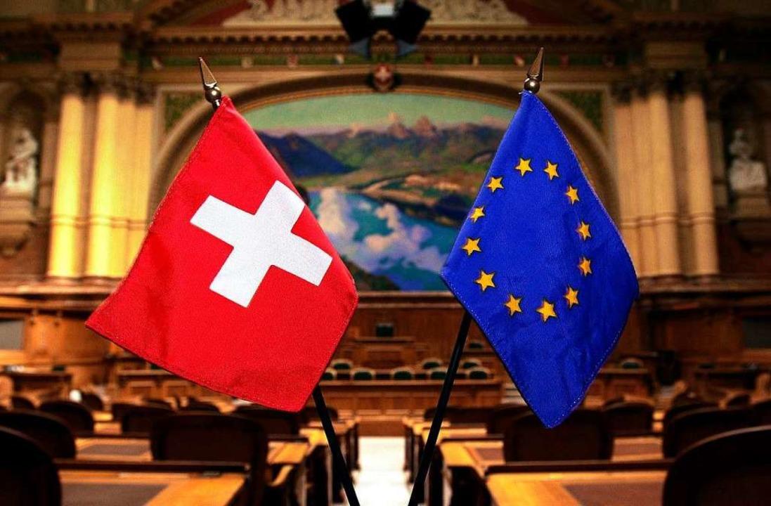 Die Schweiz und die EU – sie finden derzeit nicht zusammen.  | Foto: Michael Stahl