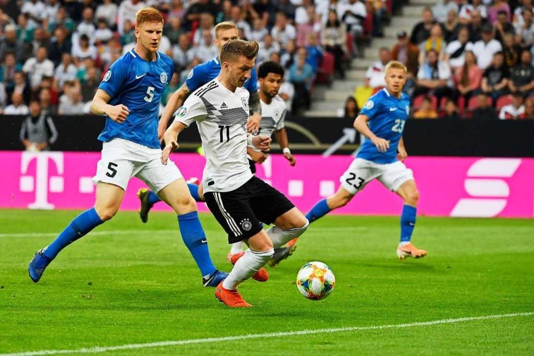 Marco Reus erzielt das 1:0.  | Foto: INA FASSBENDER (AFP)