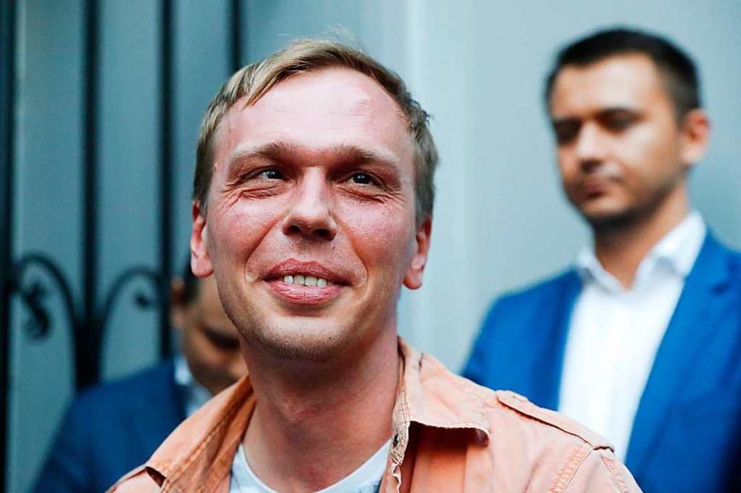 Iwan Golunow ist wieder frei.  | Foto: Pavel Golovkin (dpa)