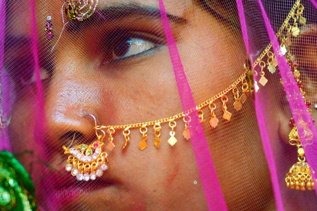 Ein indisches Mädchen, aufgenommen bei seiner Hochzeit   | Foto: Divyakant Solanki