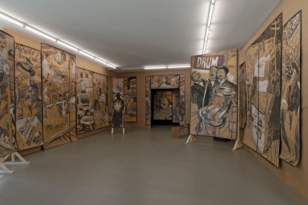 Bühnenbild-Szenario für Sophiatown  | Foto: Kunstmuseum