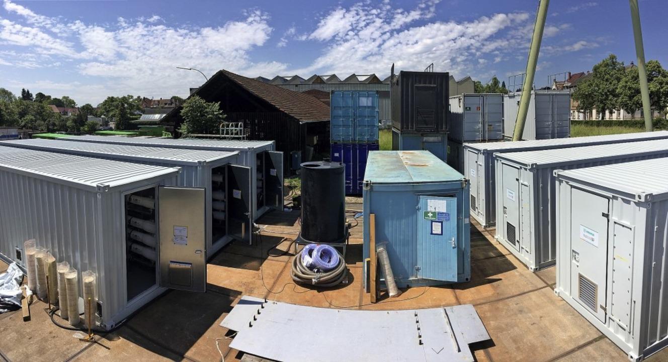 Ausquartiert: Die Hochleistungs-Abwasserbehandlungsanlagen stehen im Freilager.  | Foto: Wehrle-Werk