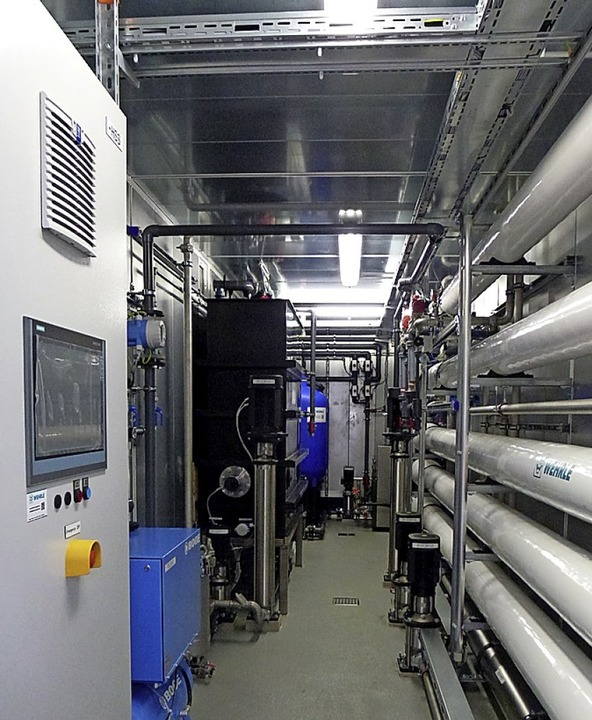 Blick ins Innere der Wehrle-Container zur Abwasserbehandlung.  | Foto: Wehrle-Werk