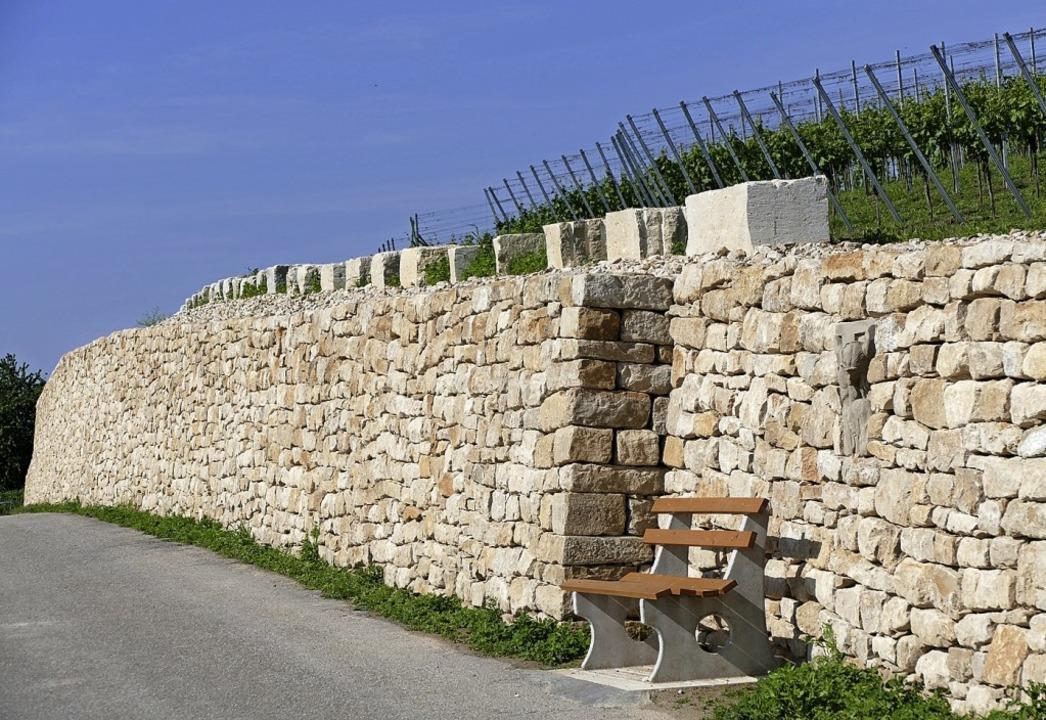 Umstritten: Die Trockenmauer in Biengen   | Foto: Victor Adolf