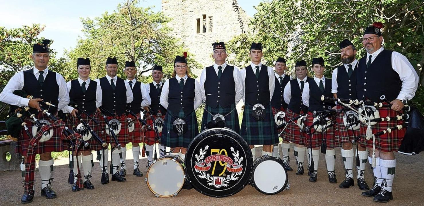 Die Castle Hill Pipers spielen am Sonntag.     Foto: Veranstalter