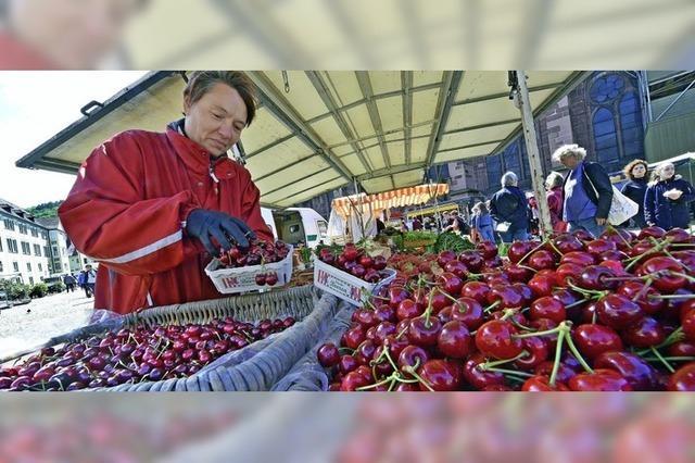Kirschen auf dem Münstermarkt
