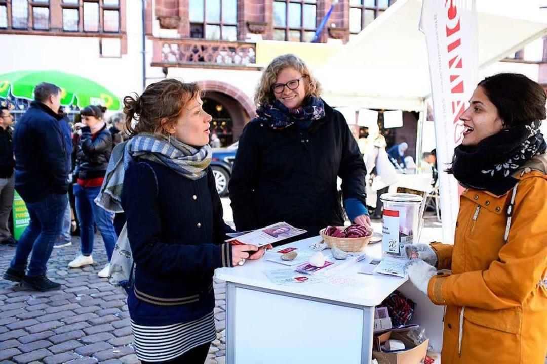 Amica präsentierte sich neben anderen ...stand auf dem Freiburger Rathausplatz.  | Foto: Thomas Kunz
