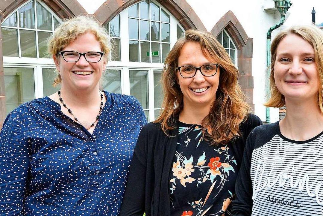 Überzeugt von Amica: Cornelia Grothe, Gaelle Dietrich und Natalia Schaaf.  | Foto: Michael Bamberger