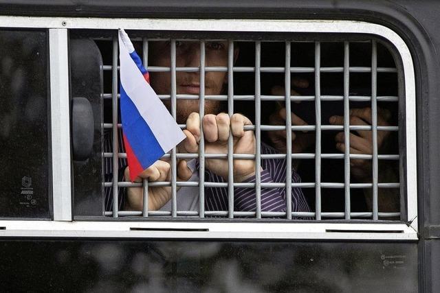 Moskaus Polizei greift bei Protesten durch