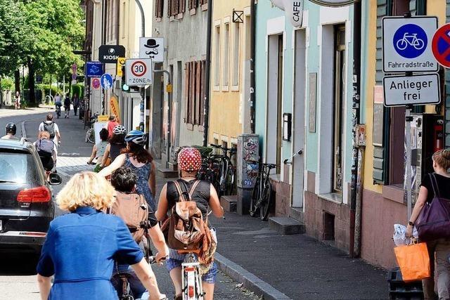 Freiburger Fahrradstraße wird jetzt Einbahnstraße