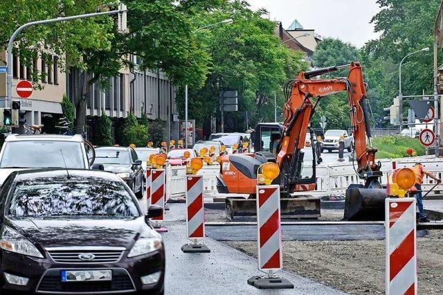 B 31 im Freiburger Zentrum am Freitag wieder frei