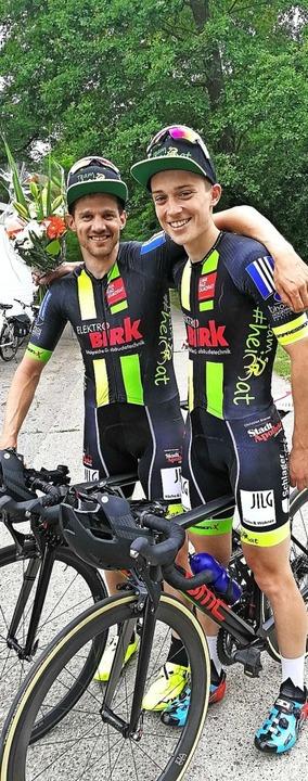 Radsport, Ortenauer Team Heimat, Veröf... Patrice Heidmann und rechts Lukas End  | Foto: privat