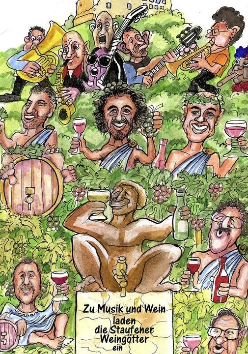 So freut sich BZ-Karikaturist Bert Koh...n, Gerd Köpfer und Matthias Wagenmann     Foto: Bert Kohl