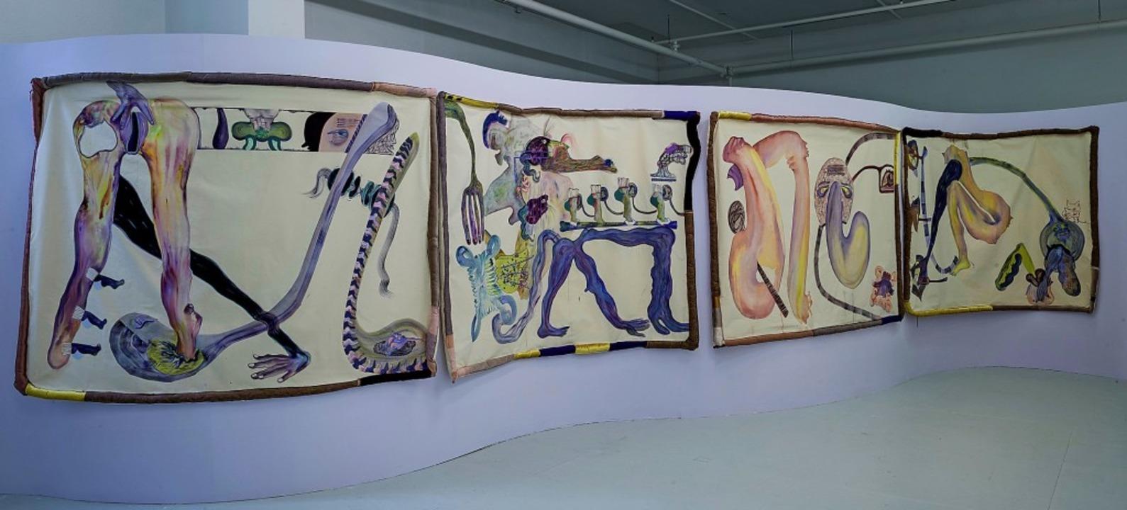 """Heloise Delègue: """"Spooning Sucks"""", Installationsansicht     Foto: Marc Doradzillo"""