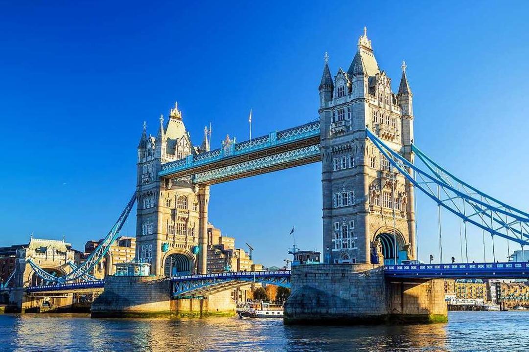 Eines der Wahrzeichen Londons: die Tower Bridge    Foto: Wasin Pummarin