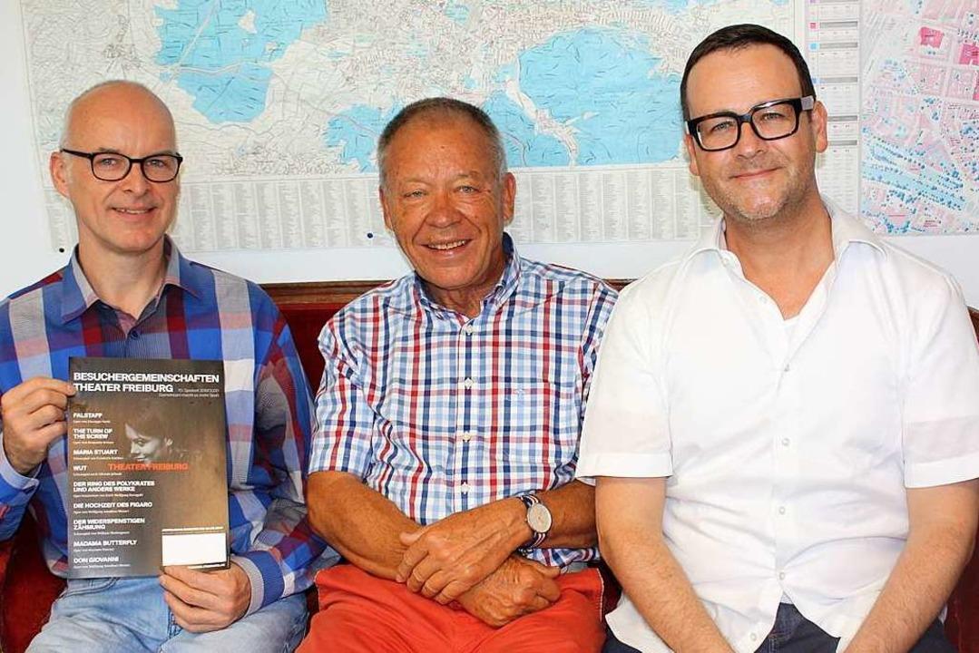 Günter Daubenberger, Wolfgang Gierschner und Tim Lucas (von links).  | Foto: Gabriele Fässler