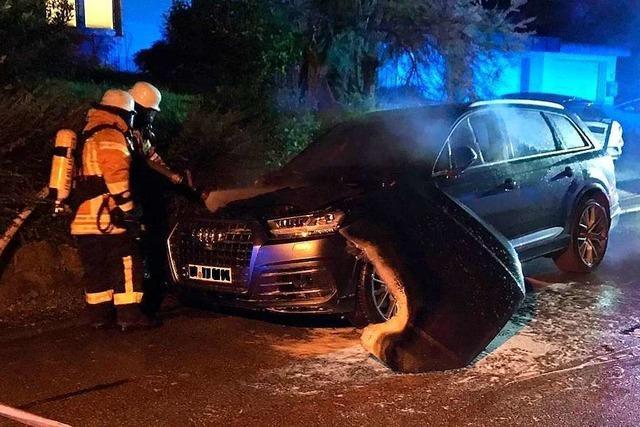 Erst brennen zwei Autos in Emmendingen, dann eines in Bombach