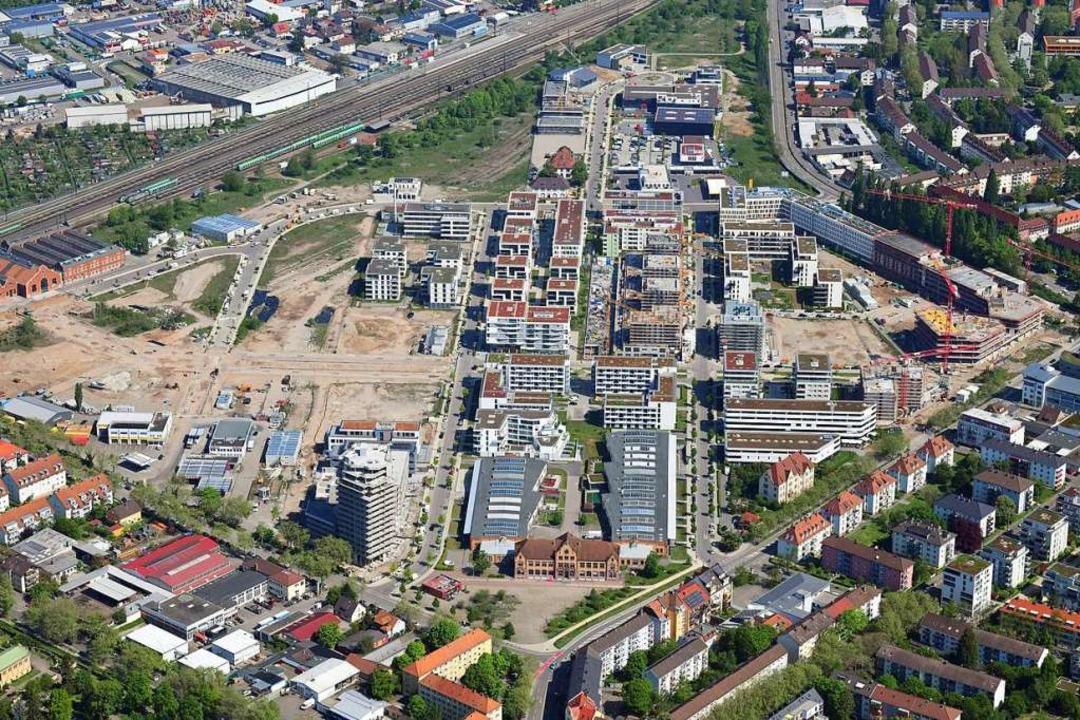 Auf dem Güterbahnareal laufen die Grundstückspreise aus dem Ruder.  | Foto: Erich Meyer