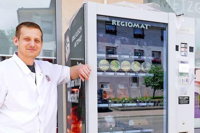 In Neustadt steht jetzt ein Wurstautomat