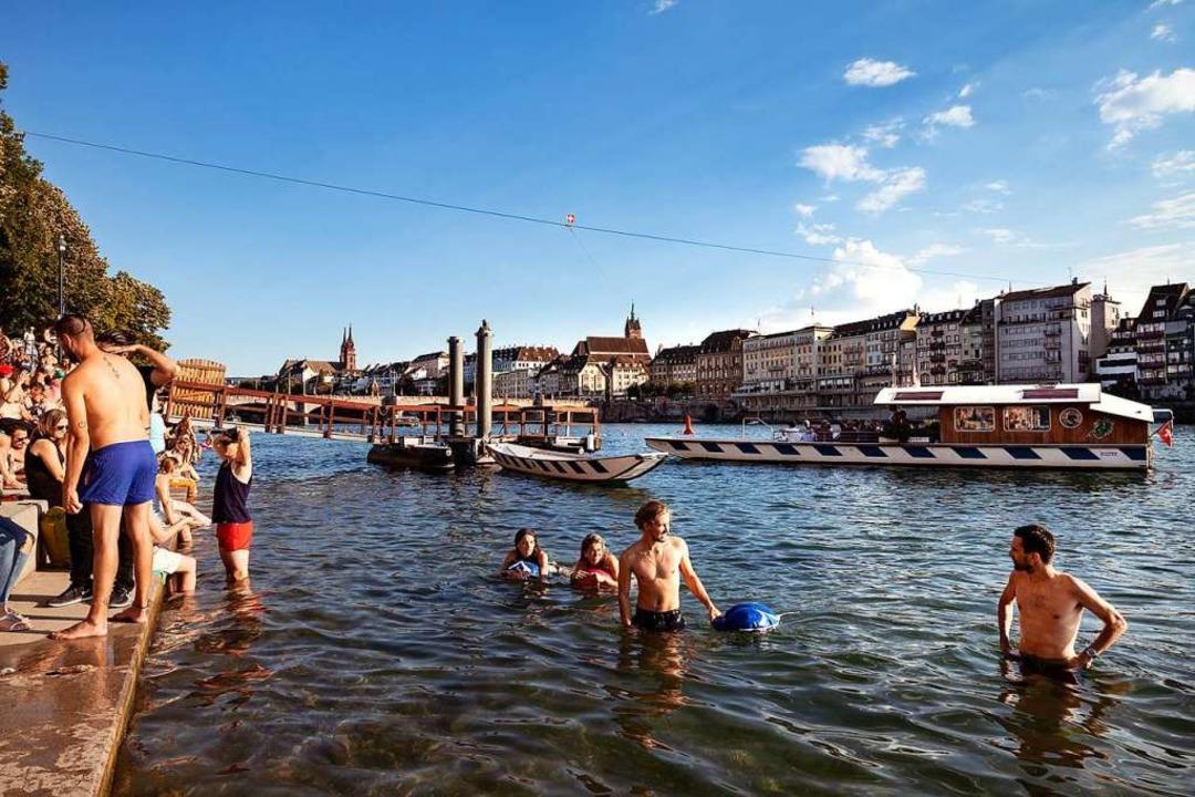 Rheinbaden in Basel    Foto: Lucia de Mosteyrín Munnoz
