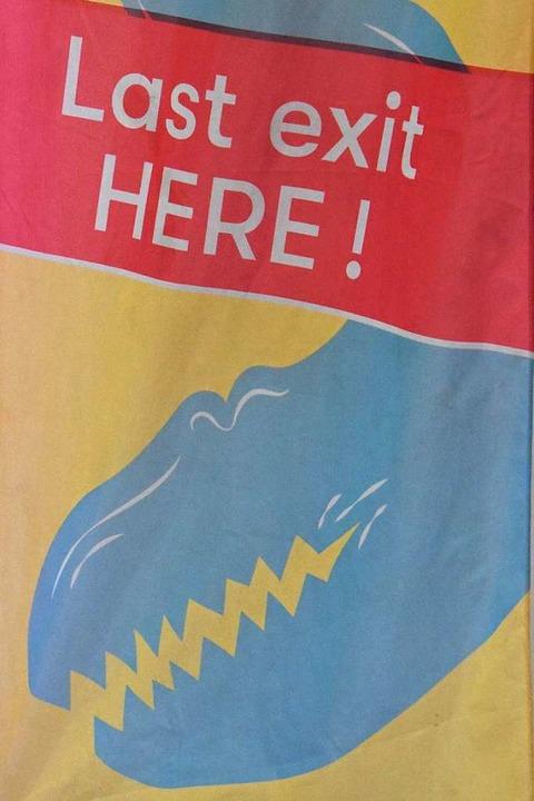 Letzte Warnung für Schwimmer    Foto: Kathrin Ganter