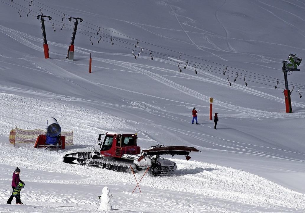 Die Pistenpräparierung im Skigebiet Fe...eit der Partner  effizienter werden.    | Foto: Susanne Gilg