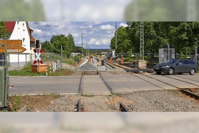 Bahnübergang wird gesperrt