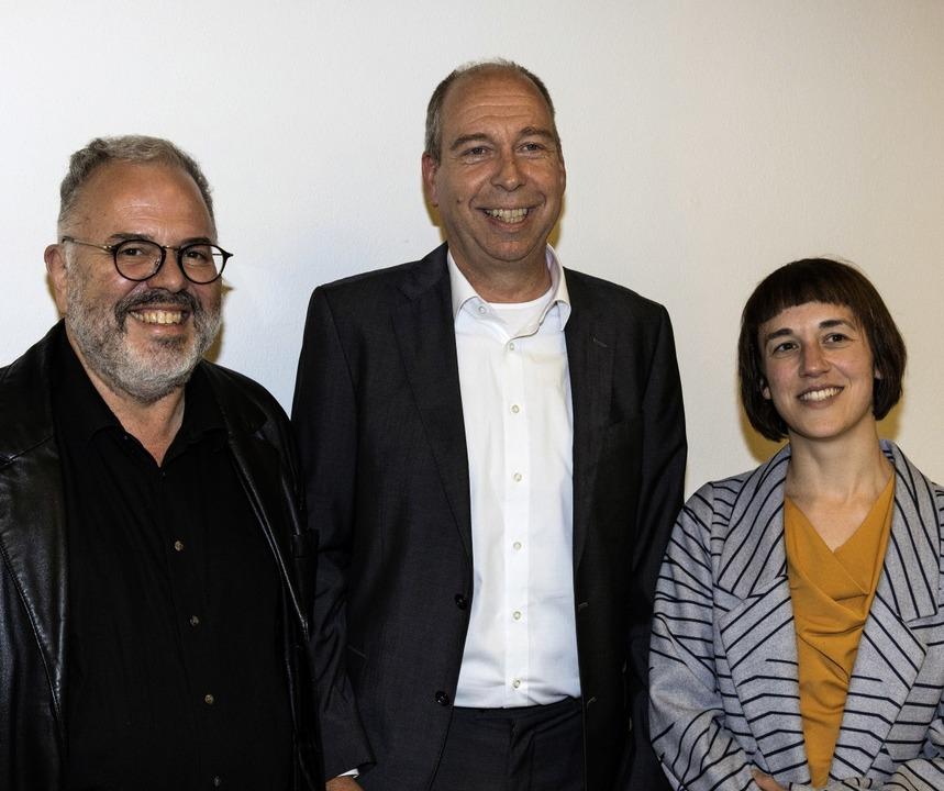 Der neu gewählte Vorstand mit Ralf Zic...Leitung der Sozialstation fortführen.   | Foto: Gabriele Zahn
