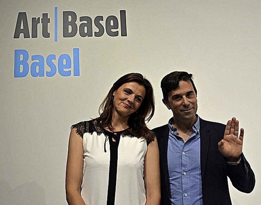 Filmkuratorin Maxa Zoller und Gianni J...;, nehmen Abschied von der Art Basel.   | Foto: Savera Kang