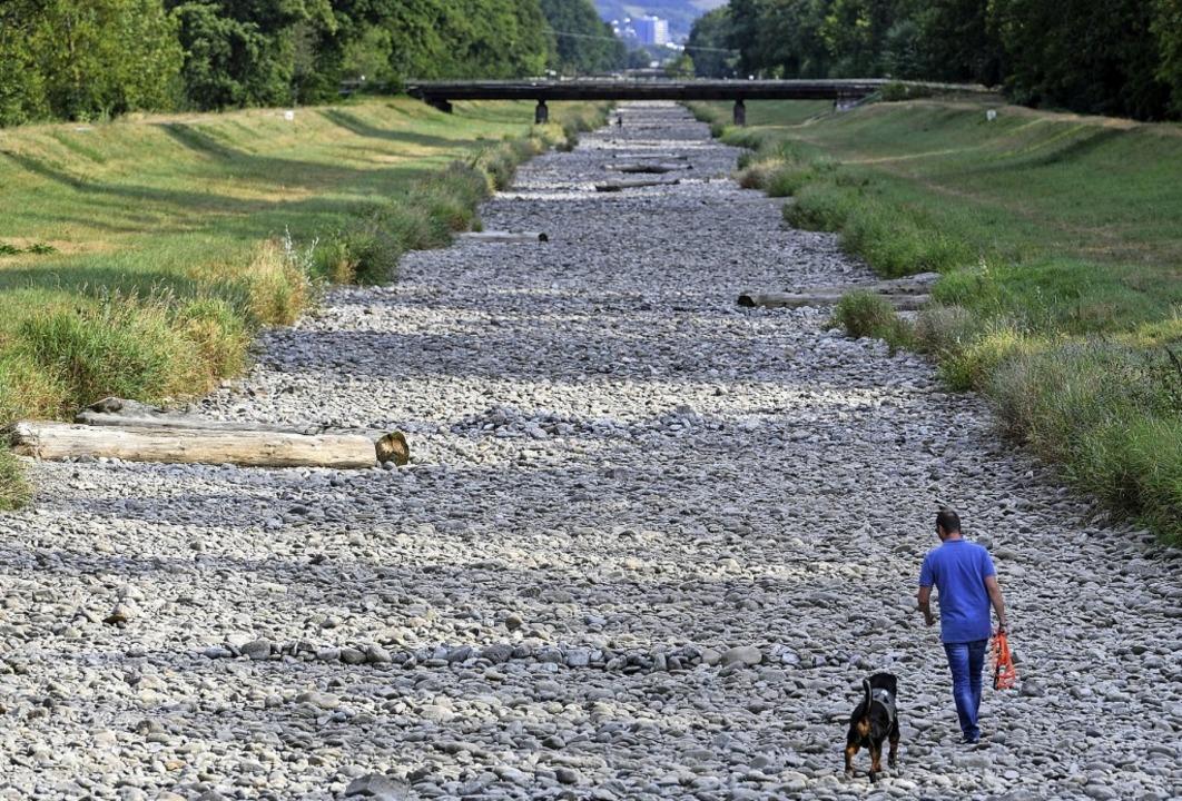In Zukunft könnten Flüsse wie hier die...äufiger trocken fallen, sagt Plattner.  | Foto: Patrick Seeger