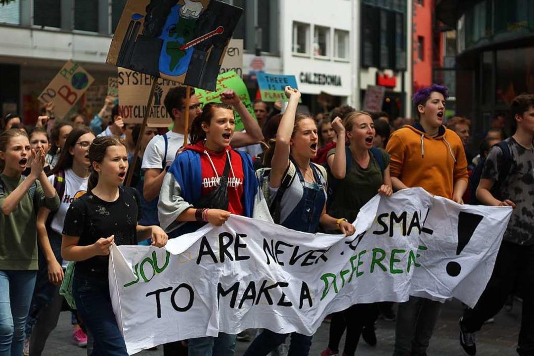 Seit Februar gibt es in Lörrach eine O...Foto entstand bei der Demo am 25. Mai.  | Foto: Joshua Kocher