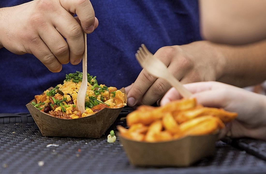Derzeit sehr beliebt: Essen von  Food-Trucks.   | Foto: Patrik Müller